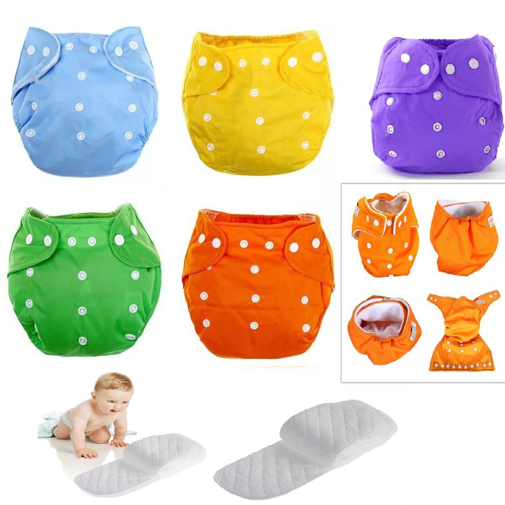 Reusable Washable Cloth Diapers(Plain Multicolor) (set of 7 diaper )