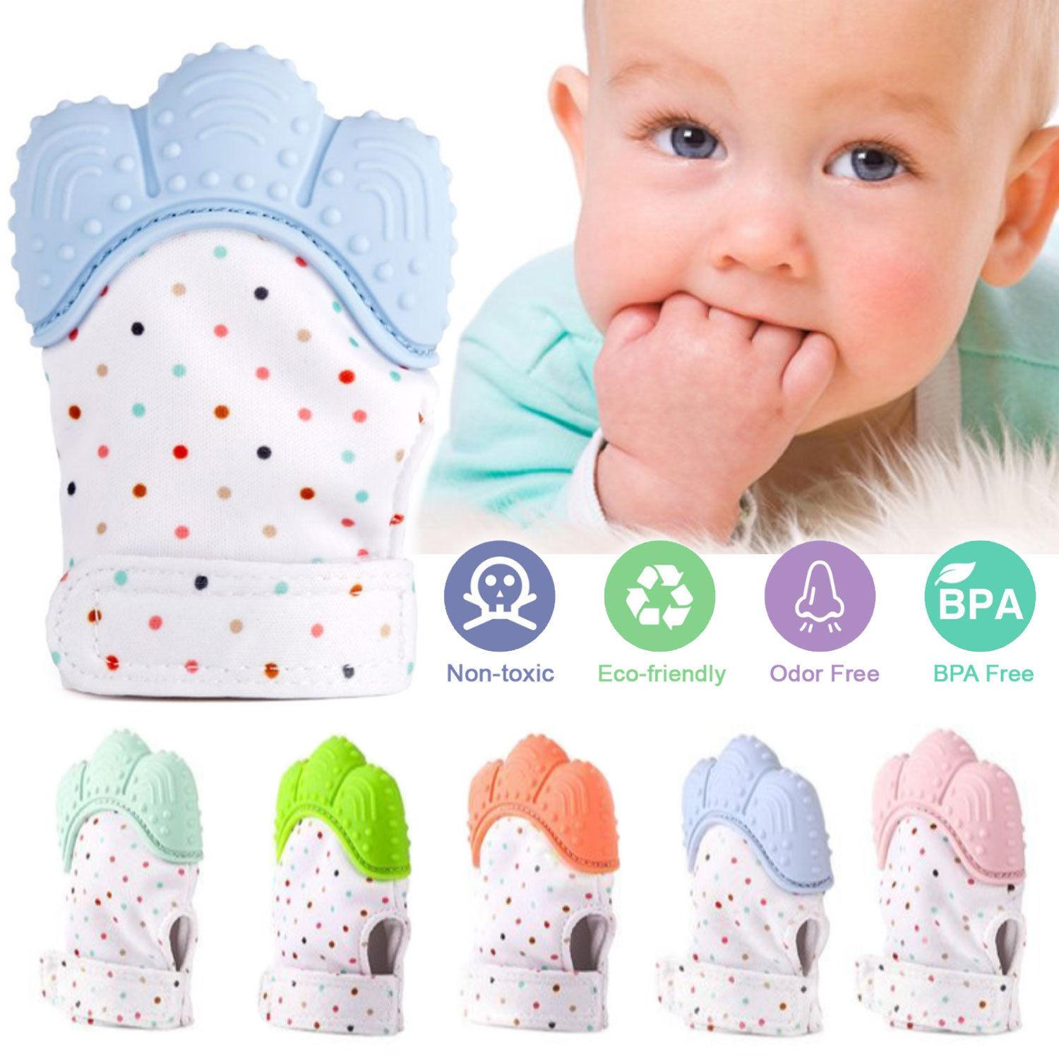 Baby Teething Mitten Silicon Teether