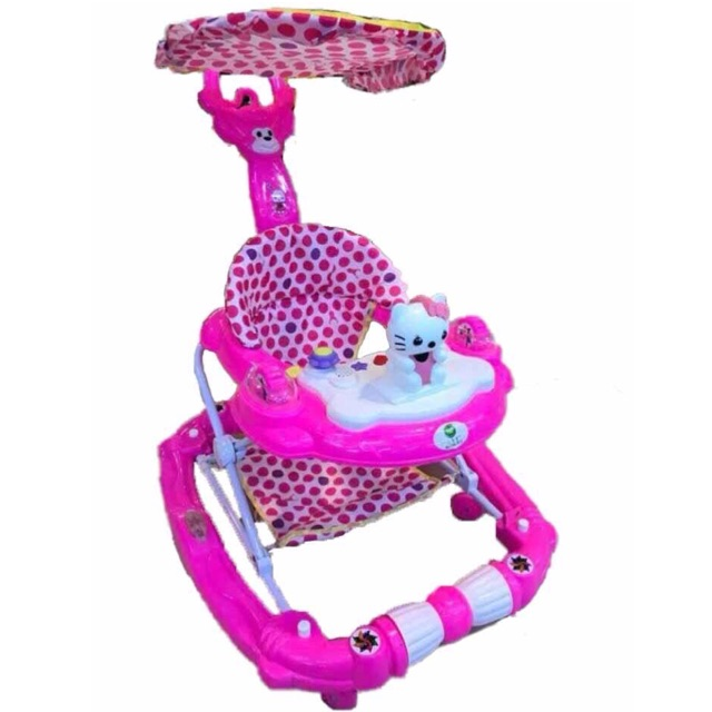 3 in 1 Multifunctional Walker + Rocker with Removable Push Handle