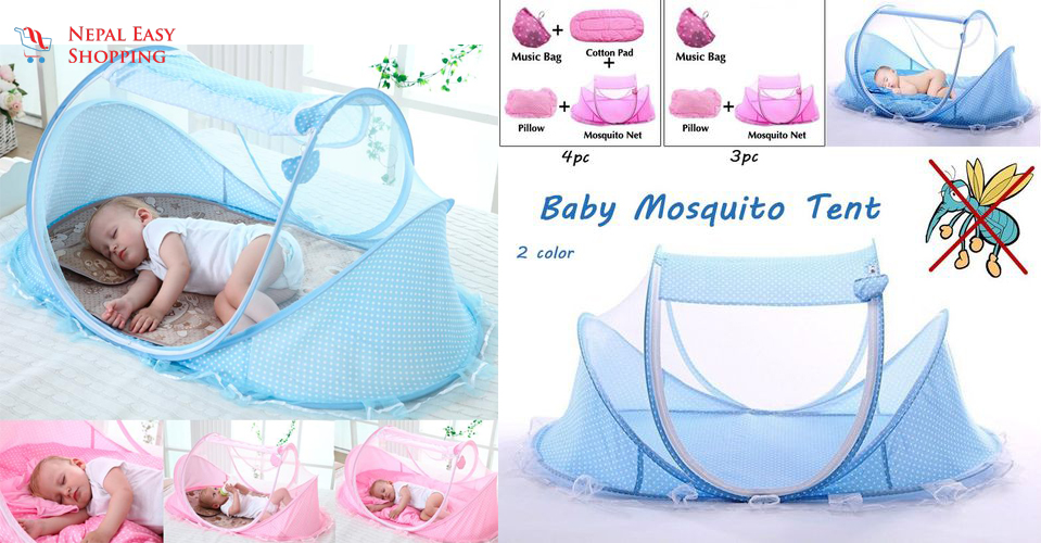 Baby Infant Bed  Mosquito Nets with Mattress Pillow
