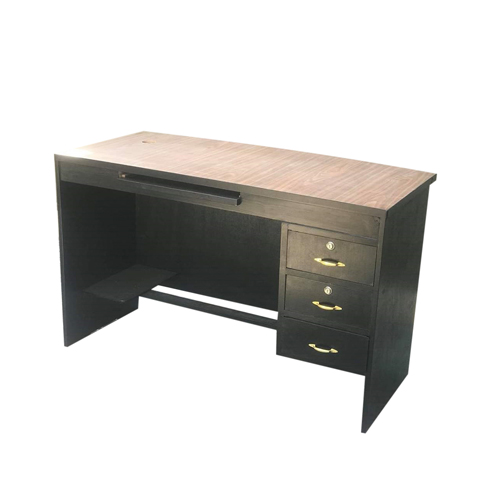 Black Wooden Office Table - 4*2 FT