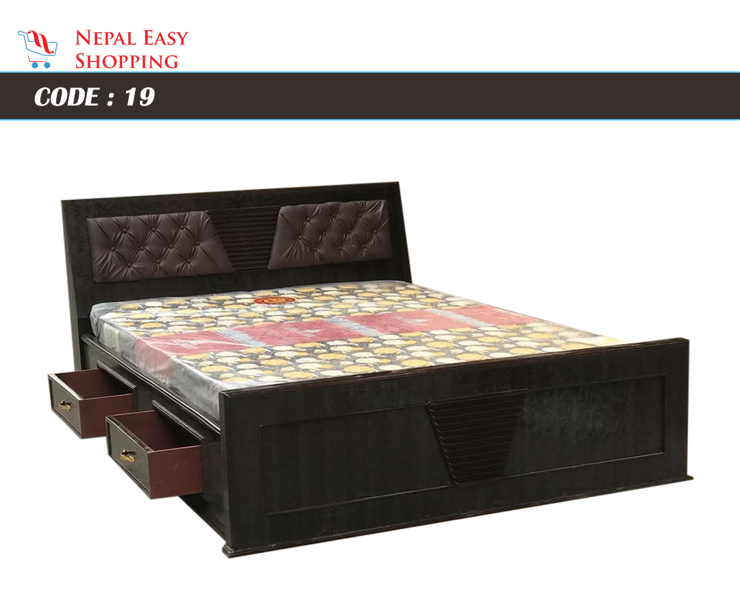 Dark Brown King Size Bed (5Ft X 6.5Ft)