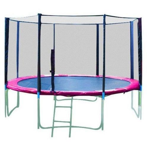10 -Foot Round Trampoline and Enclosure with spring