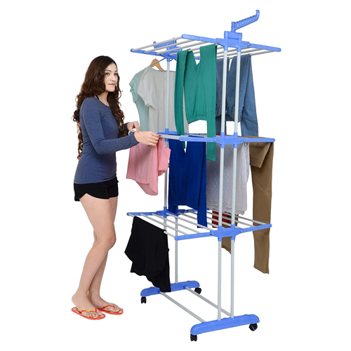 Three Layer Clothes Drying Stand (Blue)