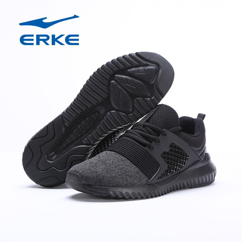 Erke  Mens Jogging Shoes Breathable Mesh Sneakers