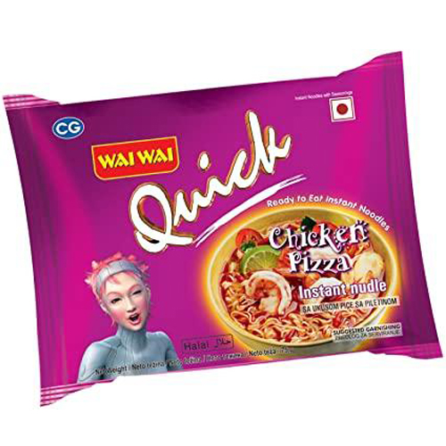 Wai Wai Quick Chicken Pizza Noodles