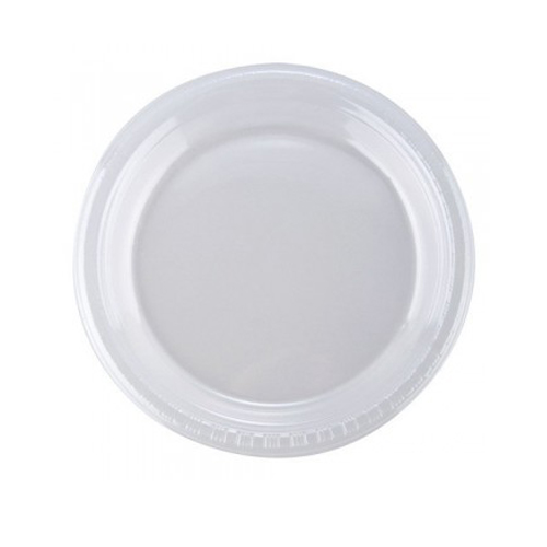 Disposal plate without corner small - 1pack