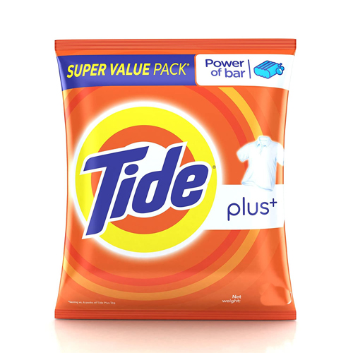 Tide Plus+ Detergent Powder 500gm
