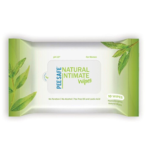 Pee  Safe Natural Intimate Wipes- Pack of 10