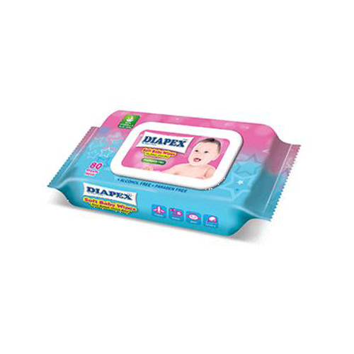 Diapex Soft Baby Wipes 80`S