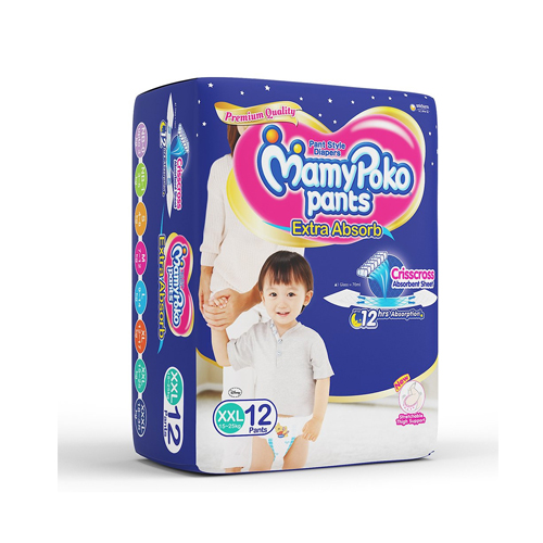 Mamy Poko Pants Diaper, Extra Large, 12