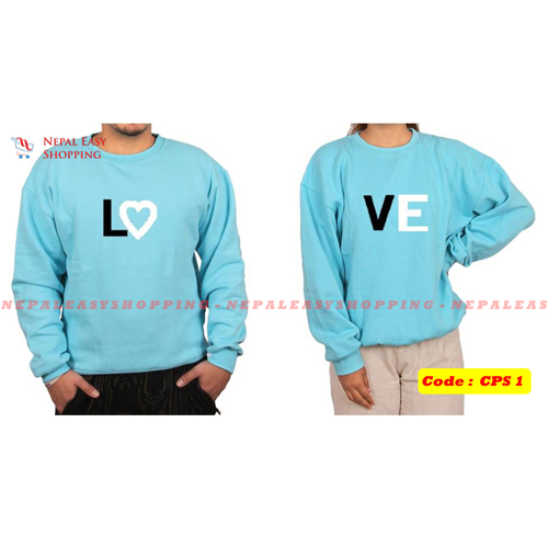Love - Navyblue  Matching Couple Hoodies - His and Her SweatShirts