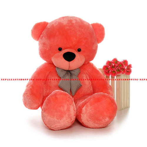 Teddy Orange Colored Cotton Fabric Bear Stuffed Animal Gifts