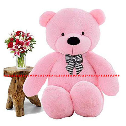 Teddy Pink Colored Cotton Fabric Bear Stuffed Animal Gifts
