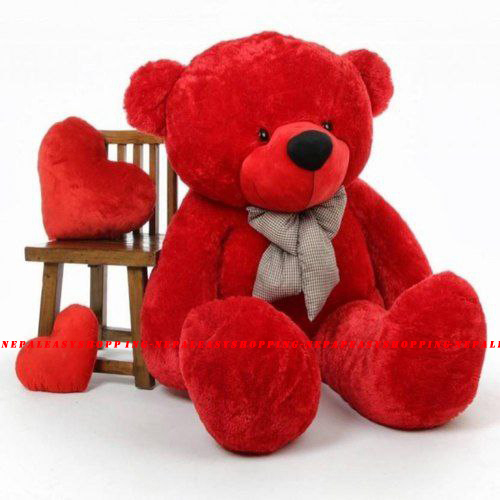 Teddy Red Colored Cotton Fabric Bear Stuffed Animal Gifts