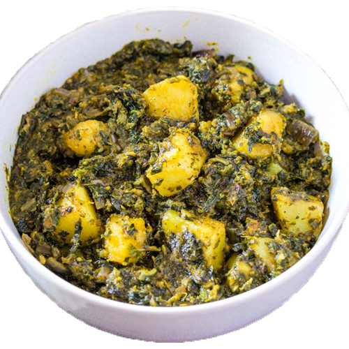 Aloo palak (Serve with 3pc roti)