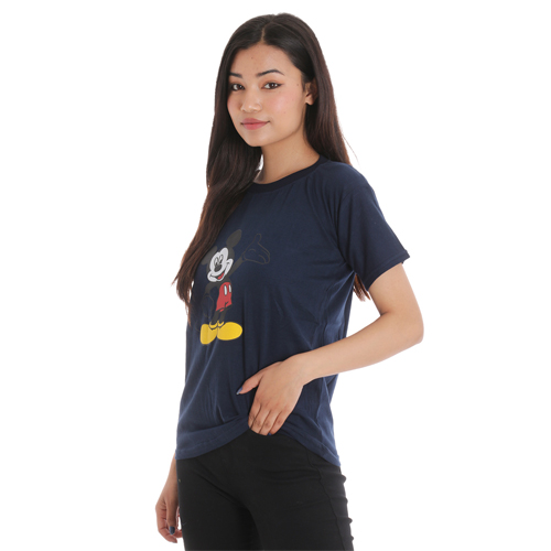 Black Casual Printed T-Shirt For Women