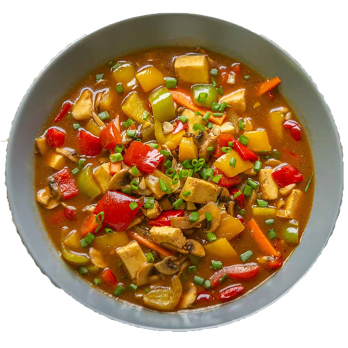 Sweet and sour veg.(Serve with plain rice)