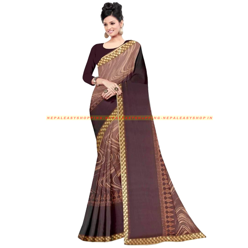 Coffee Brown Colour Banarasi Silk Saree