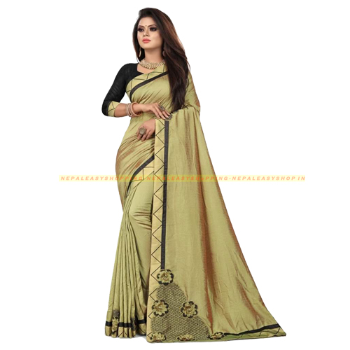 Gold Colour Banarasi Silk Saree