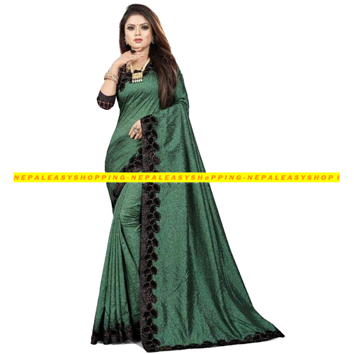 Green Colour Banarasi Silk Saree