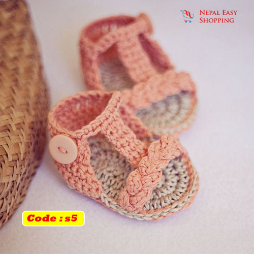 Handmade Newborn Knit Acrylin Peas Shoes, Soft Acrylic Baby Booties, Baby Girl Welcome Gift,Newborn Girl Shower Gift
