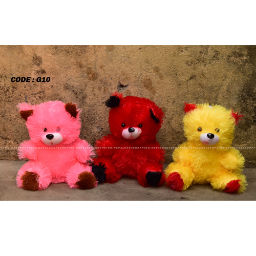 Hardik toys mini teddy bear soft toy set of 3 colors