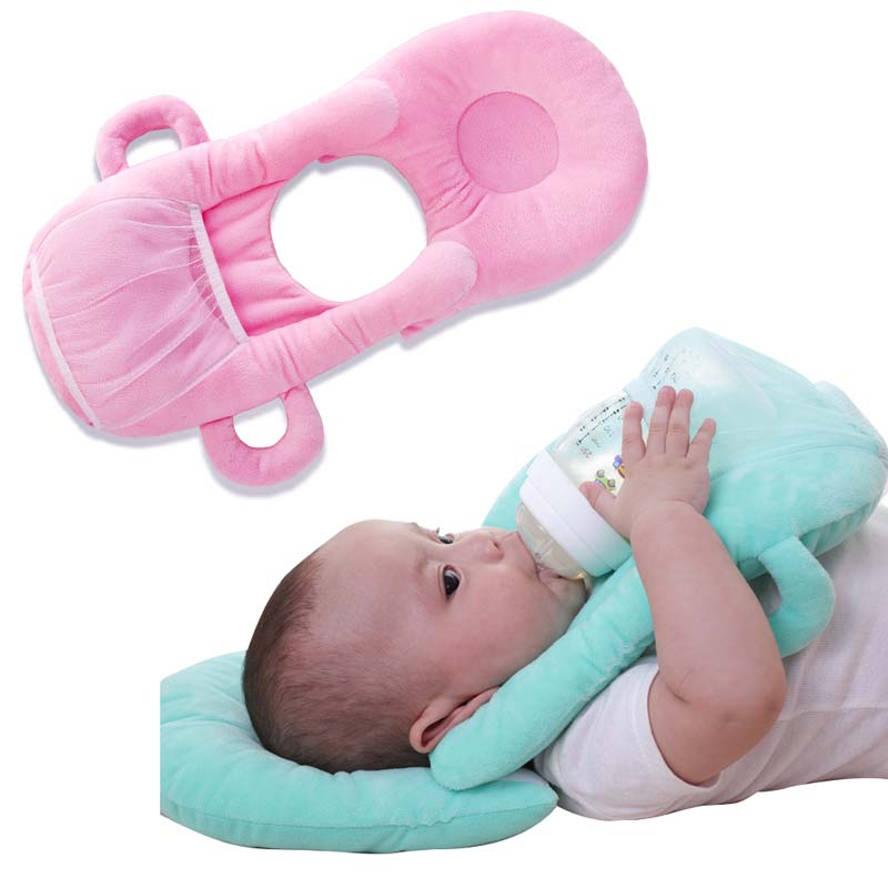 Infant Baby Bottle Rack Free Hand Bottle Holder Baby Learning Nursing Pillow