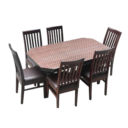 Dining Table Set ( 6 Chairs)- 42, Inch By 6 Ft