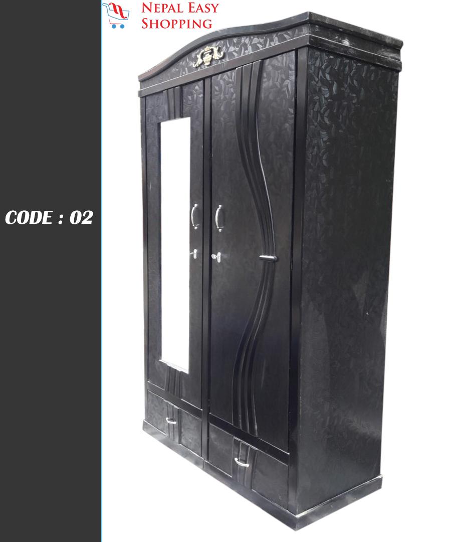 Black Ply Wood Wardrobe - 4*6 FT