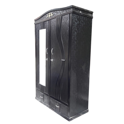 Black Ply Wood Wardrobe - 4*6 FT
