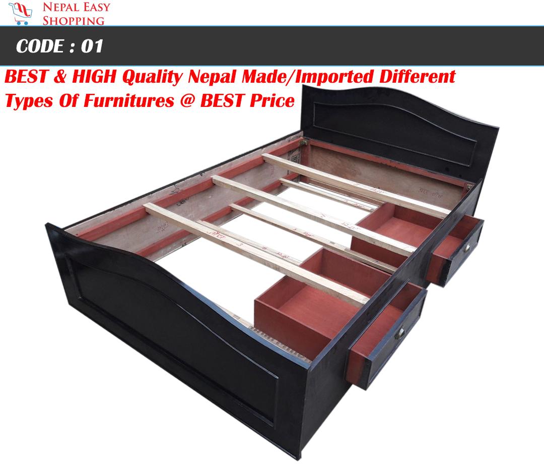 Simple Plain Bed - 4*6 FT