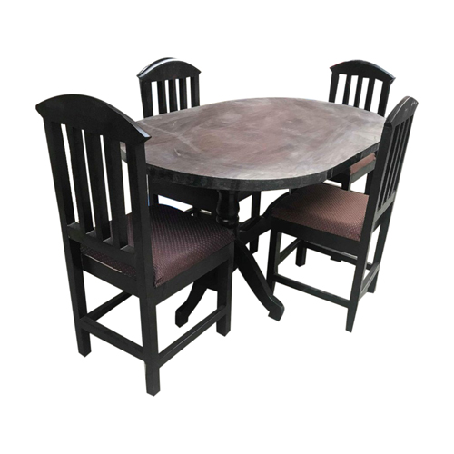 Black Dining Table (4-Seater) (5Ft X 3Ft)