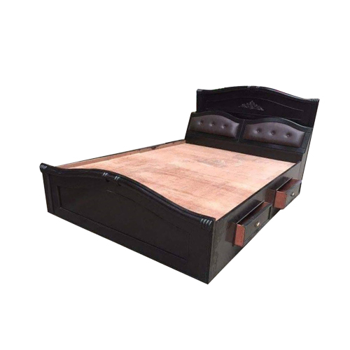 Dark Brown King Size Bed - 5*6.5 FT