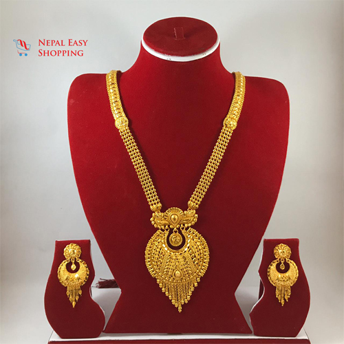 Rani Haar With Earning Set Gold Plated