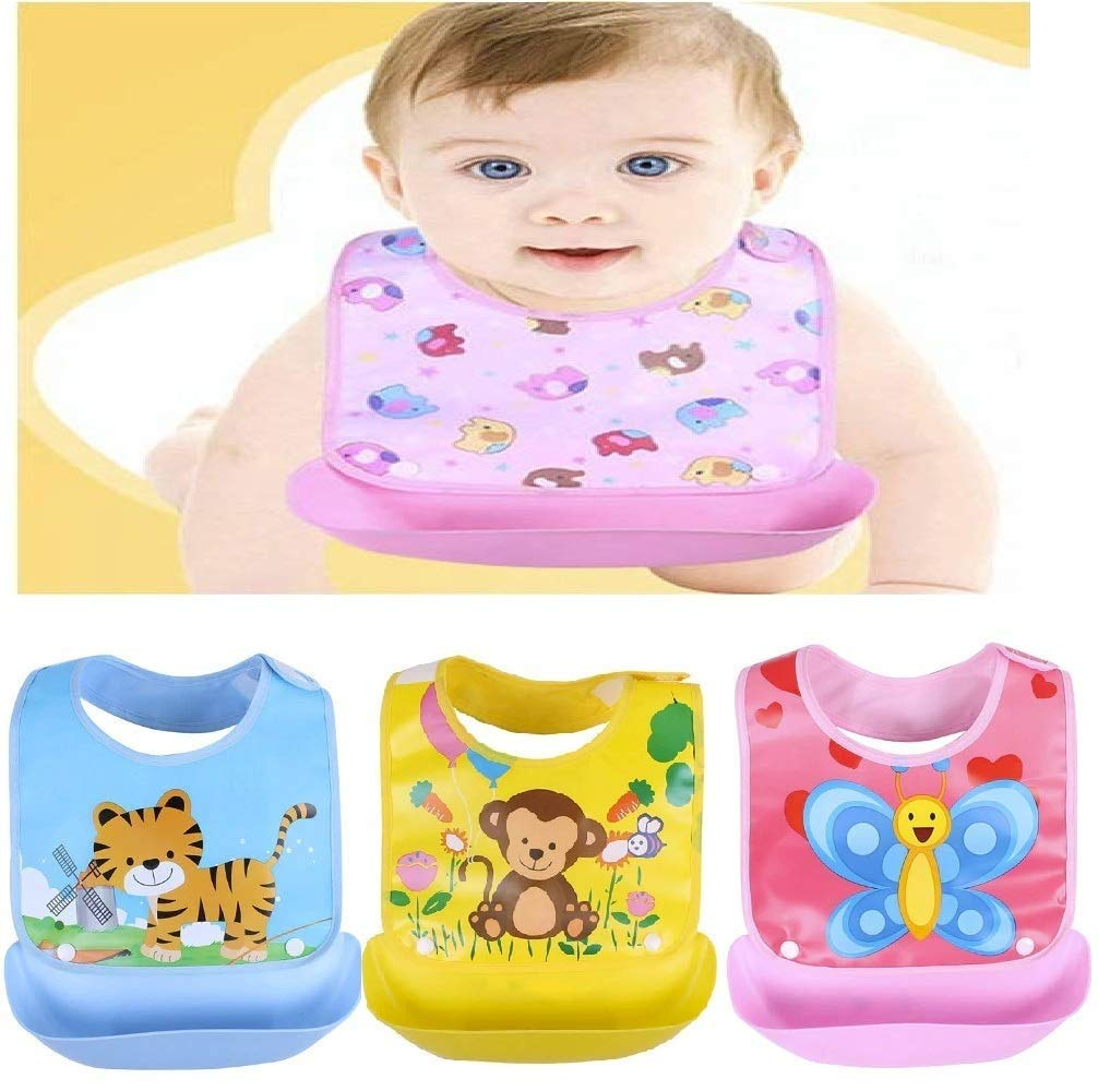 Waterproof Soft Silicone Baby Bibs