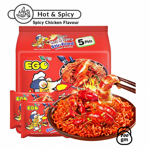 Ego Stired Fried Spicy Chicken Noodle 5's 700 gm
