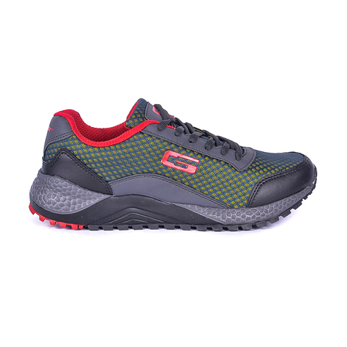 Goldstar Grey Red Sports Shoes For Men G10-404