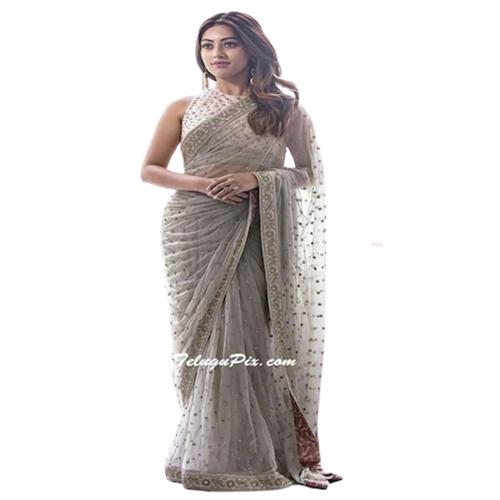 Womens Dhami Grey Color Color Saree