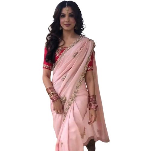 Womens Dhami Pink Color Saree