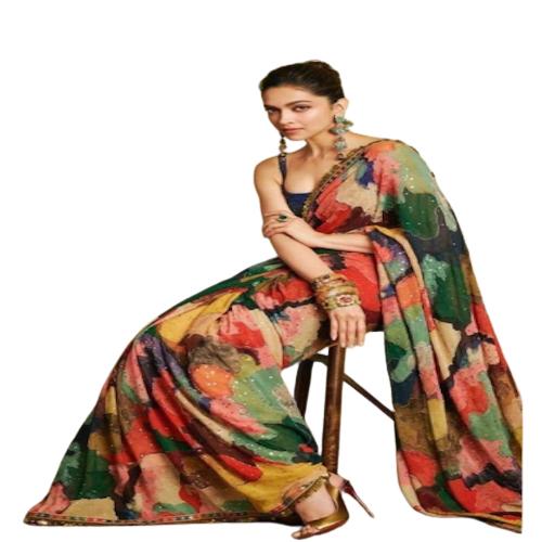 Womens Dhami Mixed Color Saree