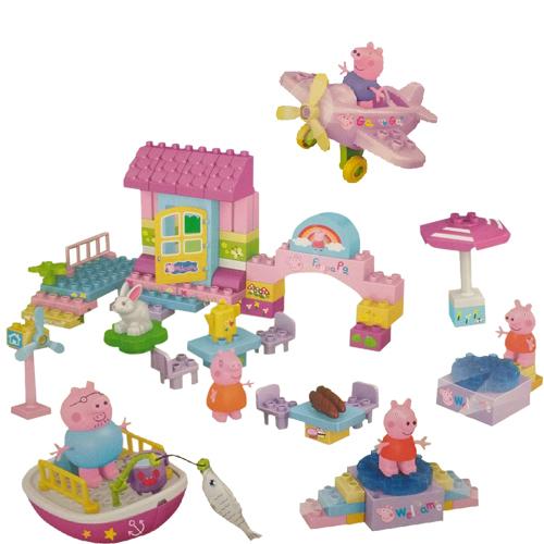 IndusBay Peppa Pig House Party Fun Blocks - Peppa Boat,  Building Set - Mega Blocks