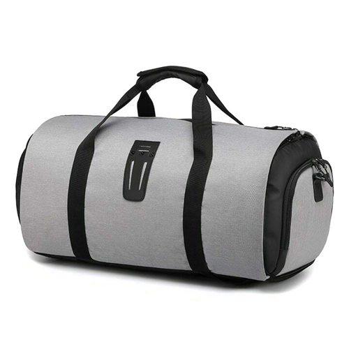 Multifunction Travel Waterproof Duffle Bag, Large Capacity Trip Suit Storage Handle Bag Carry on for Garment Bag Large Suit Travel Bag Weekend Bag Flight Bag-Grey