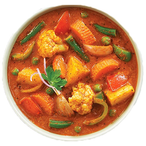 Veg Curry (Serve with 3pc roti)