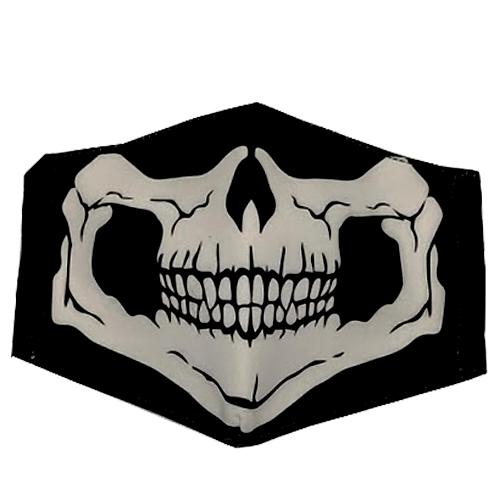 Graphic Skull Black/white Printed Unisex Face Mask