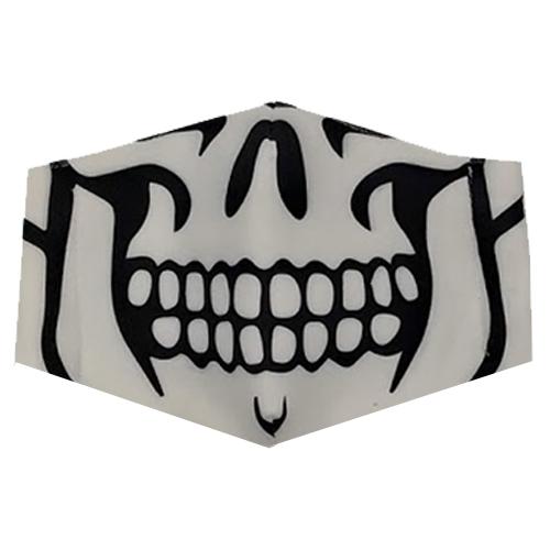 Graphic Skull White Printed Unisex Face Mask