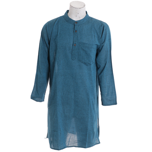 Men's Summer Long Navy Blue Fashion Kurtha Collection