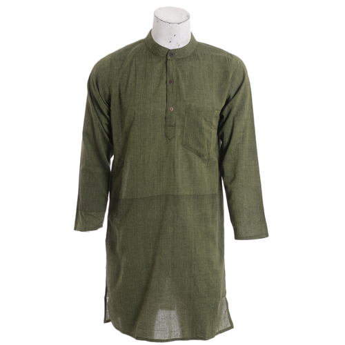 Men's Summer Long Green Fashion Kurtha Collection