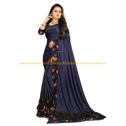 Purple Colour Banarasi Silk Saree