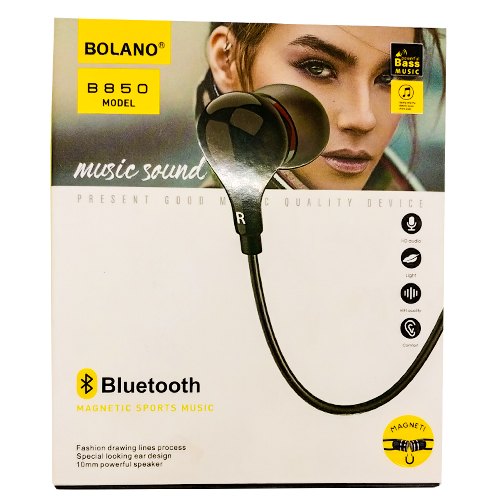 Bolano B850 Magnetic Sports Wireless Bluetooth Earphones
